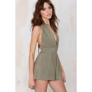 Nasty Gal After Party Mayla Halter Romper Small